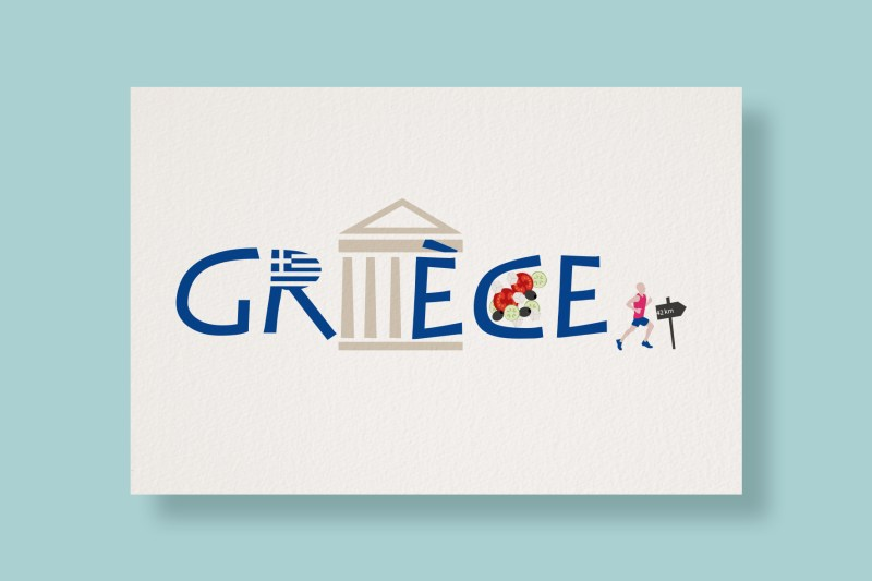 Carte Typostale Grèce