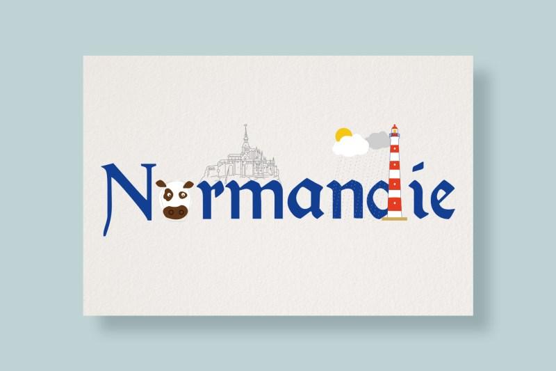 Carte Typostale Normandie