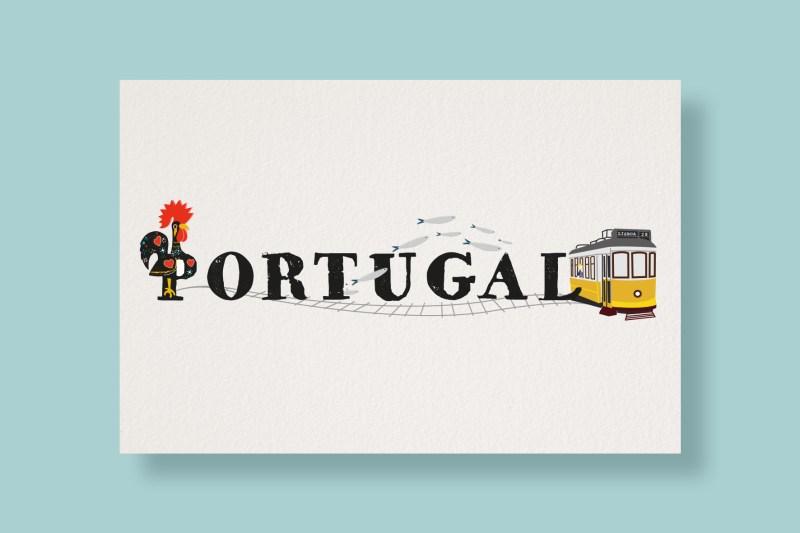 Carte Typostale Portugal