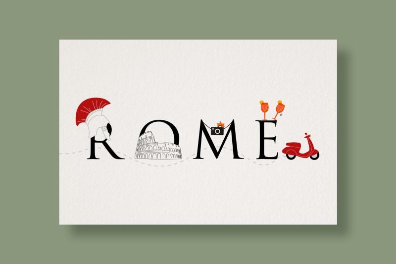 Carte Typostale Rome