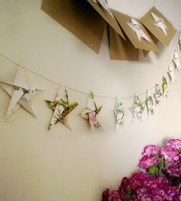 Made DIY Origami Garlands Christmas Wreath and