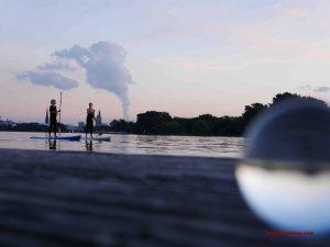 Rauch über der Elbphilharmonie
