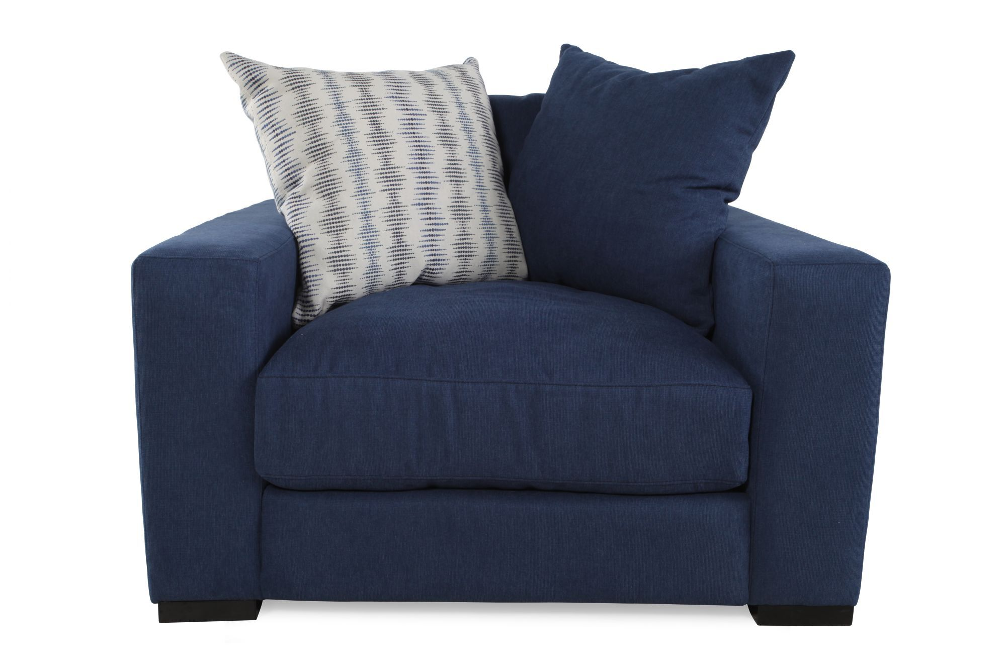 Blue Accent Chair With Arms Low Profile Casual Arm Chair In Blue Mathis Brothers