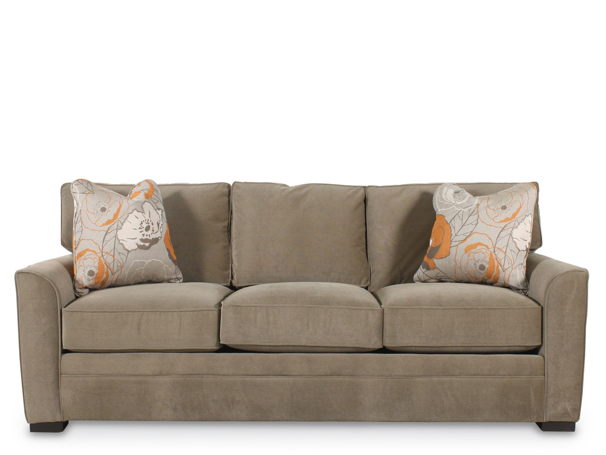Traditional Queen Sleeper Sofa In Brown