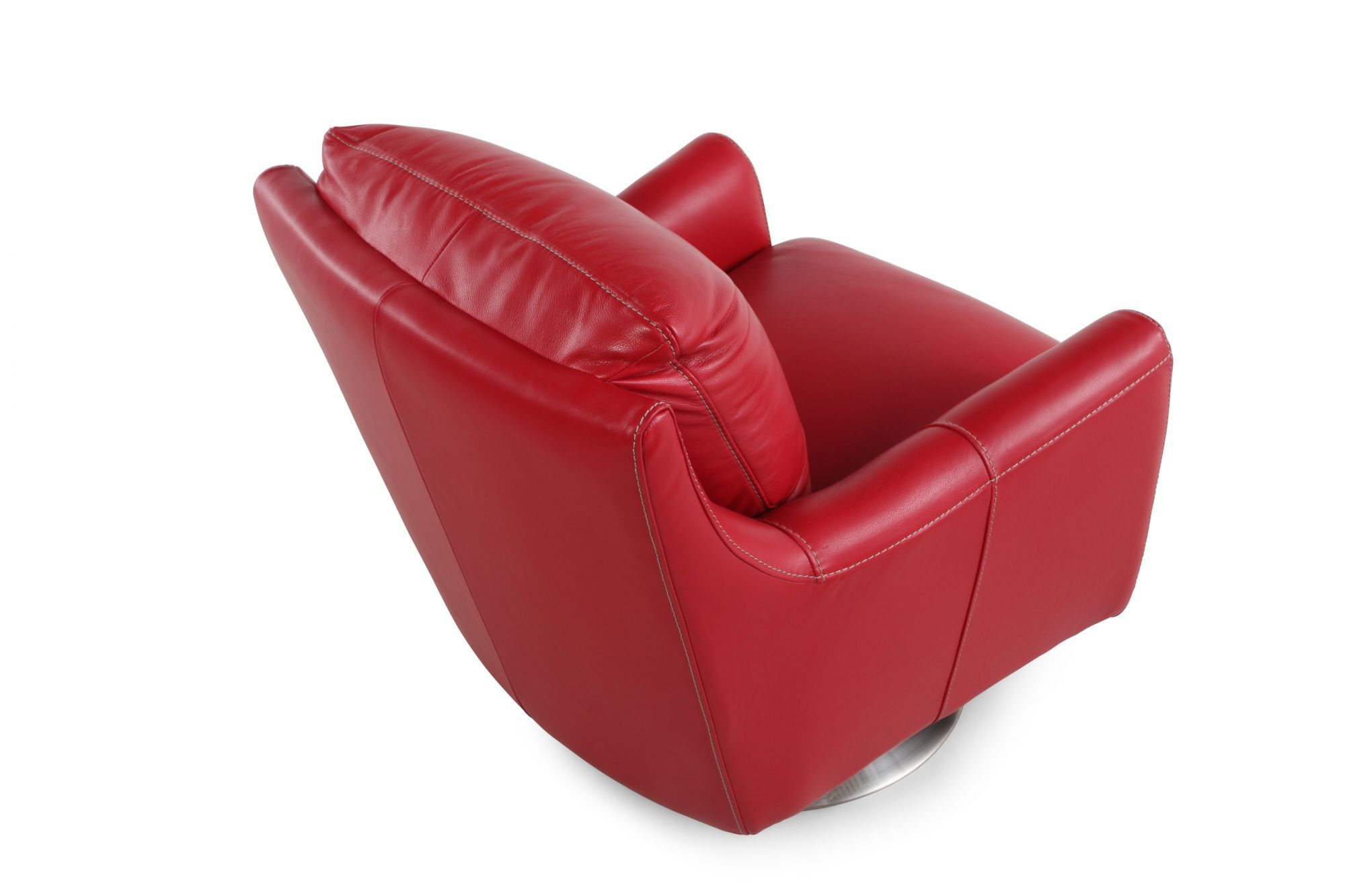Red Swivel Chair Track Arm Swivel Chair In Red Mathis Brothers Furniture