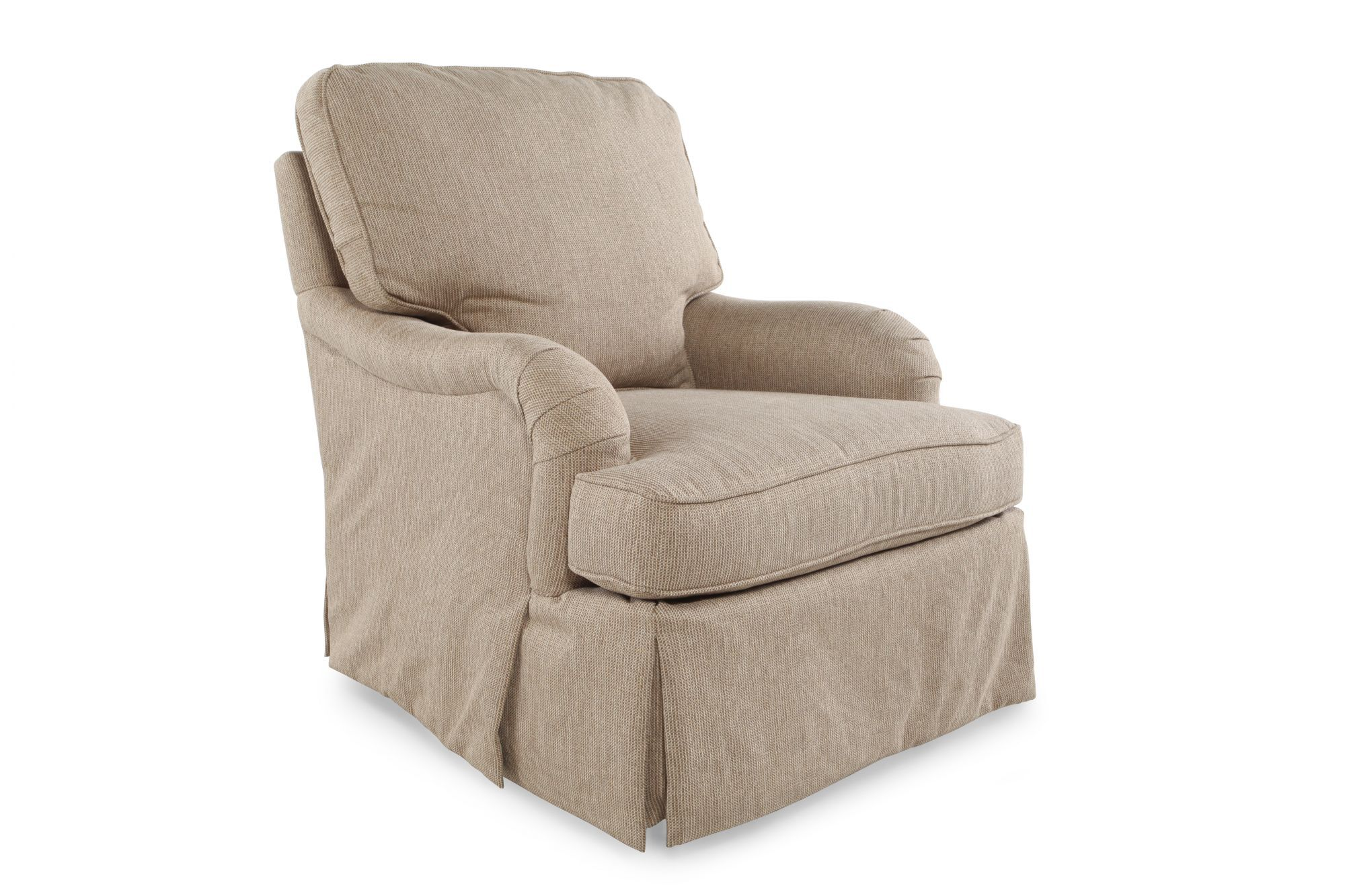 Sam Moore Chairs English Arm Contemporary 31 Swivel Glider In Cream Mathis