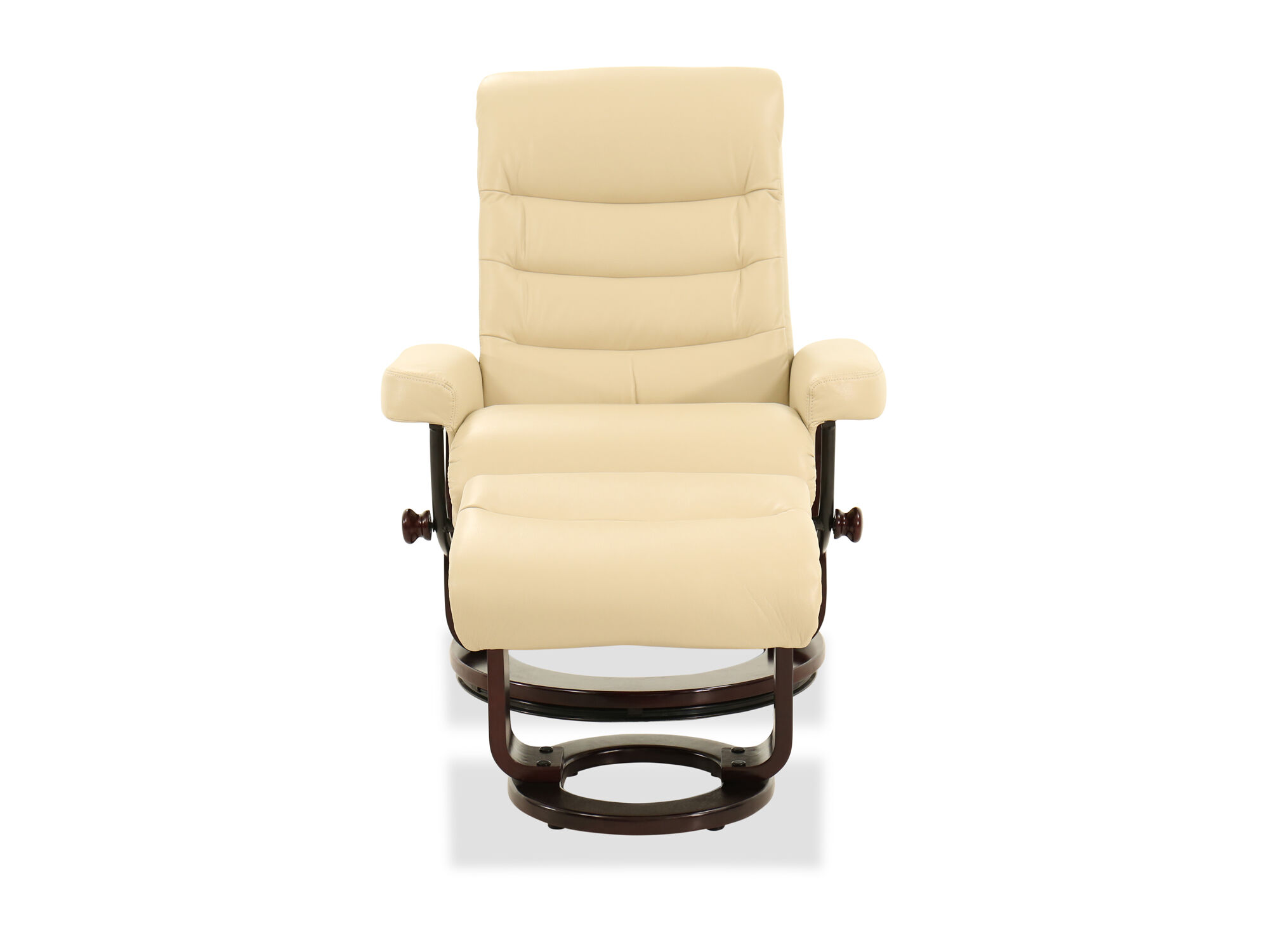 Reclining Chair And Ottoman Quilted Leather Reclining Chair And Ottoman In Cream
