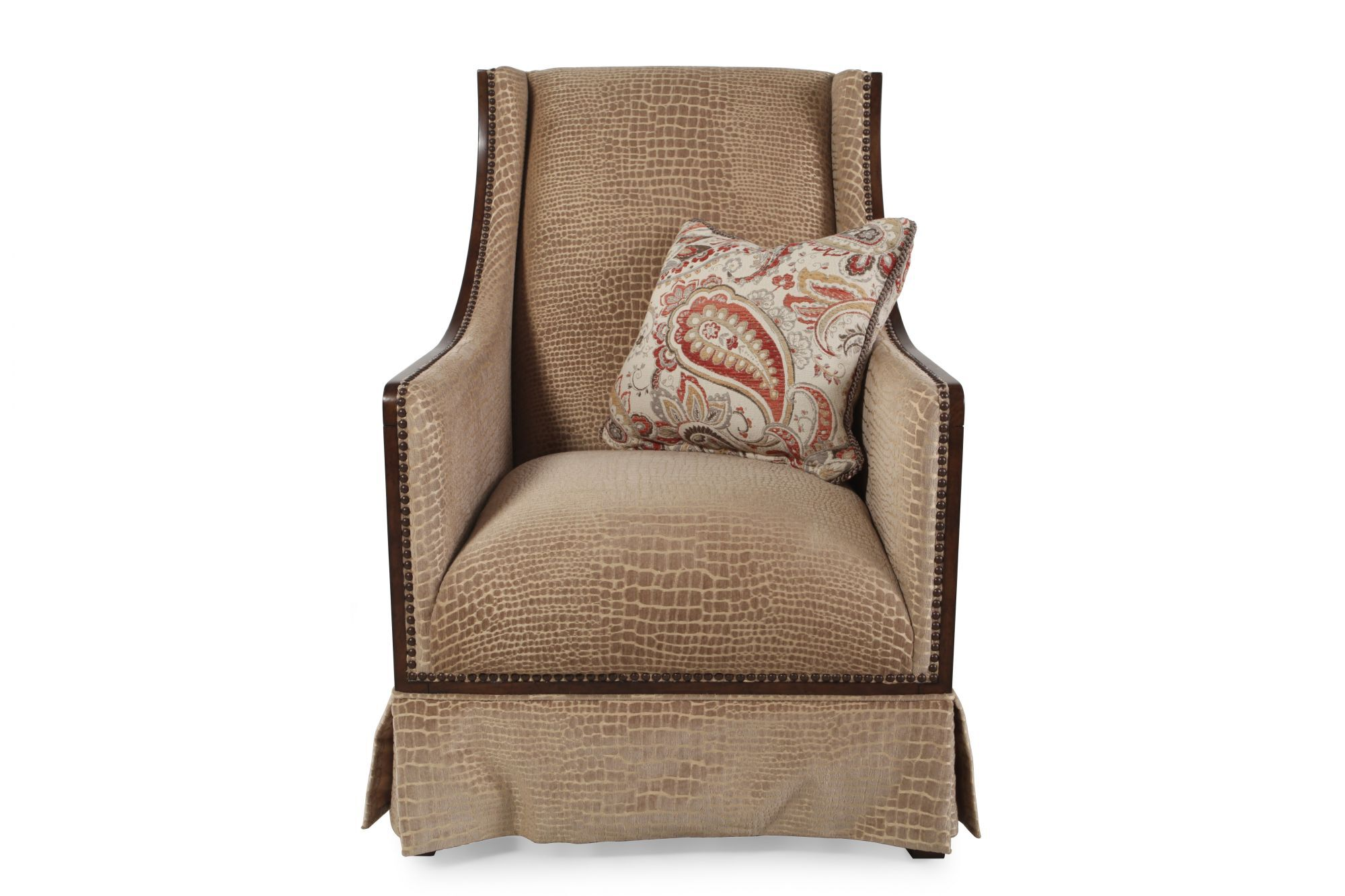 Printed Chair Croc Printed Accent Chair In Toffee Mathis Brothers