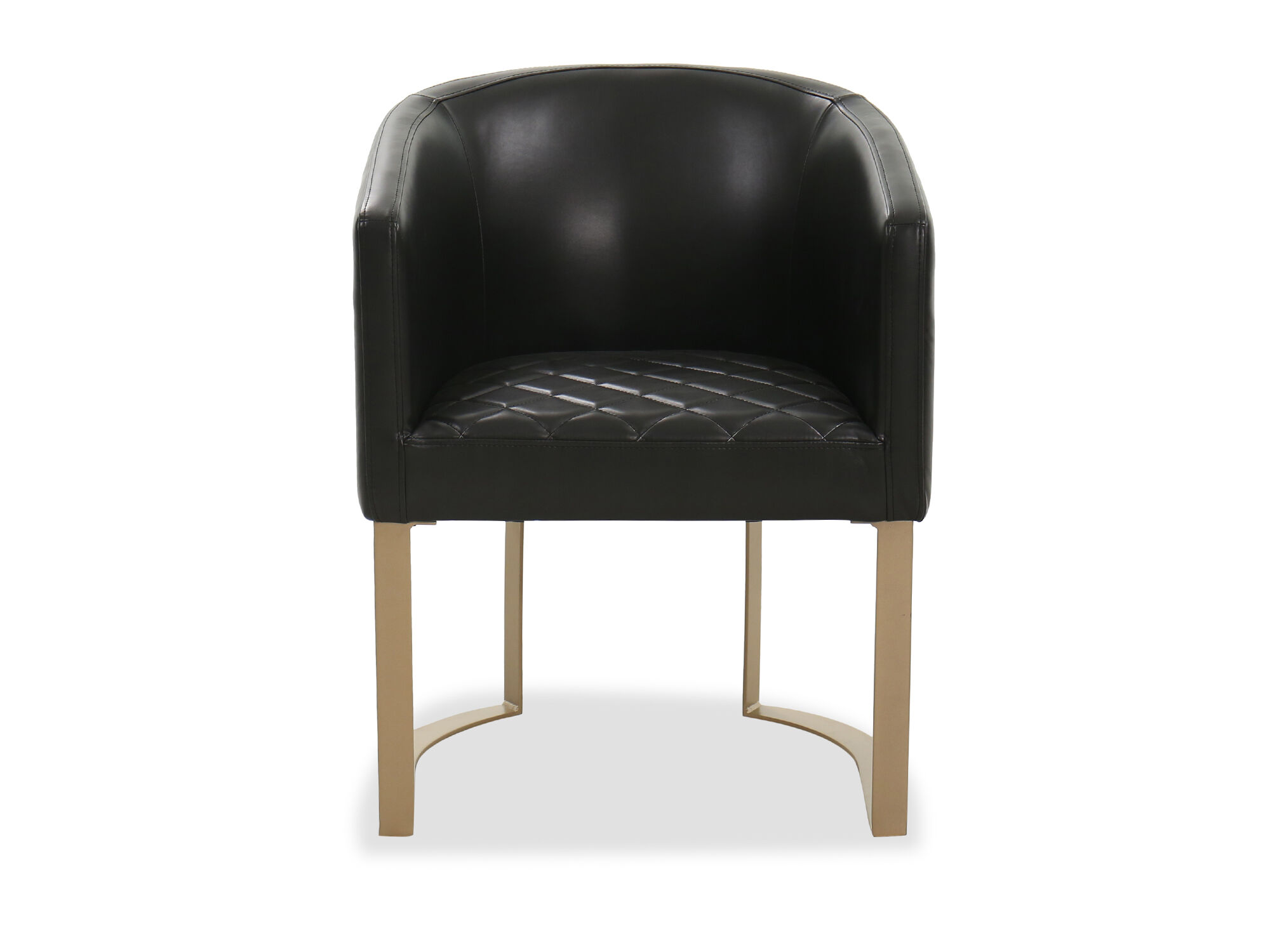 Black Barrel Chair Barrel Back Casual Side Chair In Black Mathis Brothers