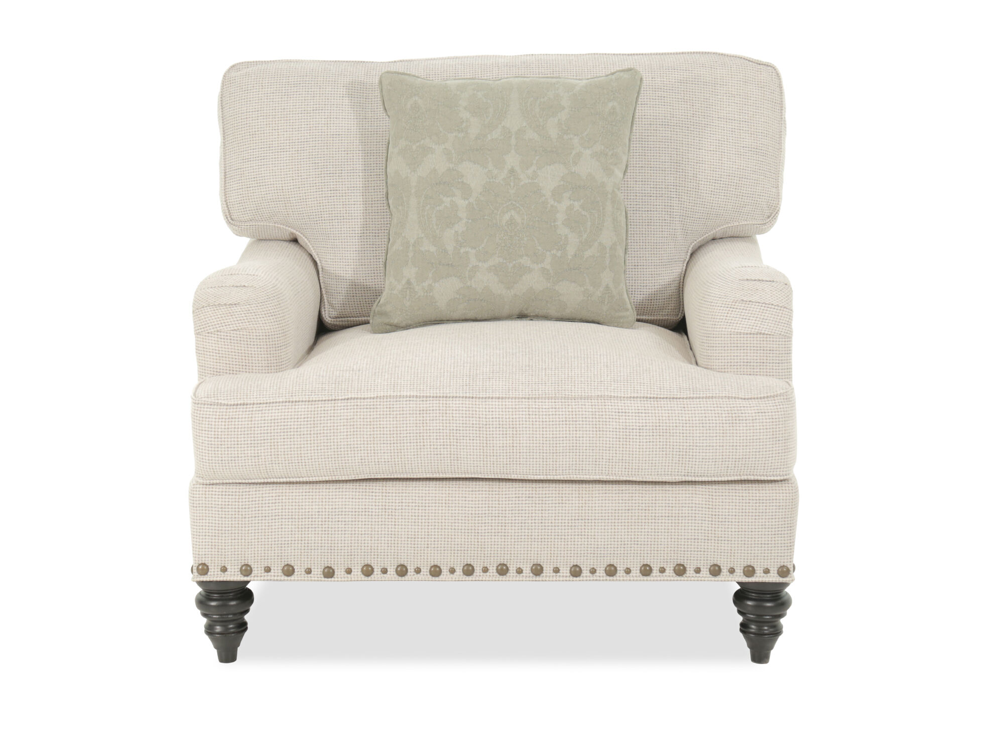 Chair In A Half Textured Traditional 41 Quot Chair And A Half In Cream