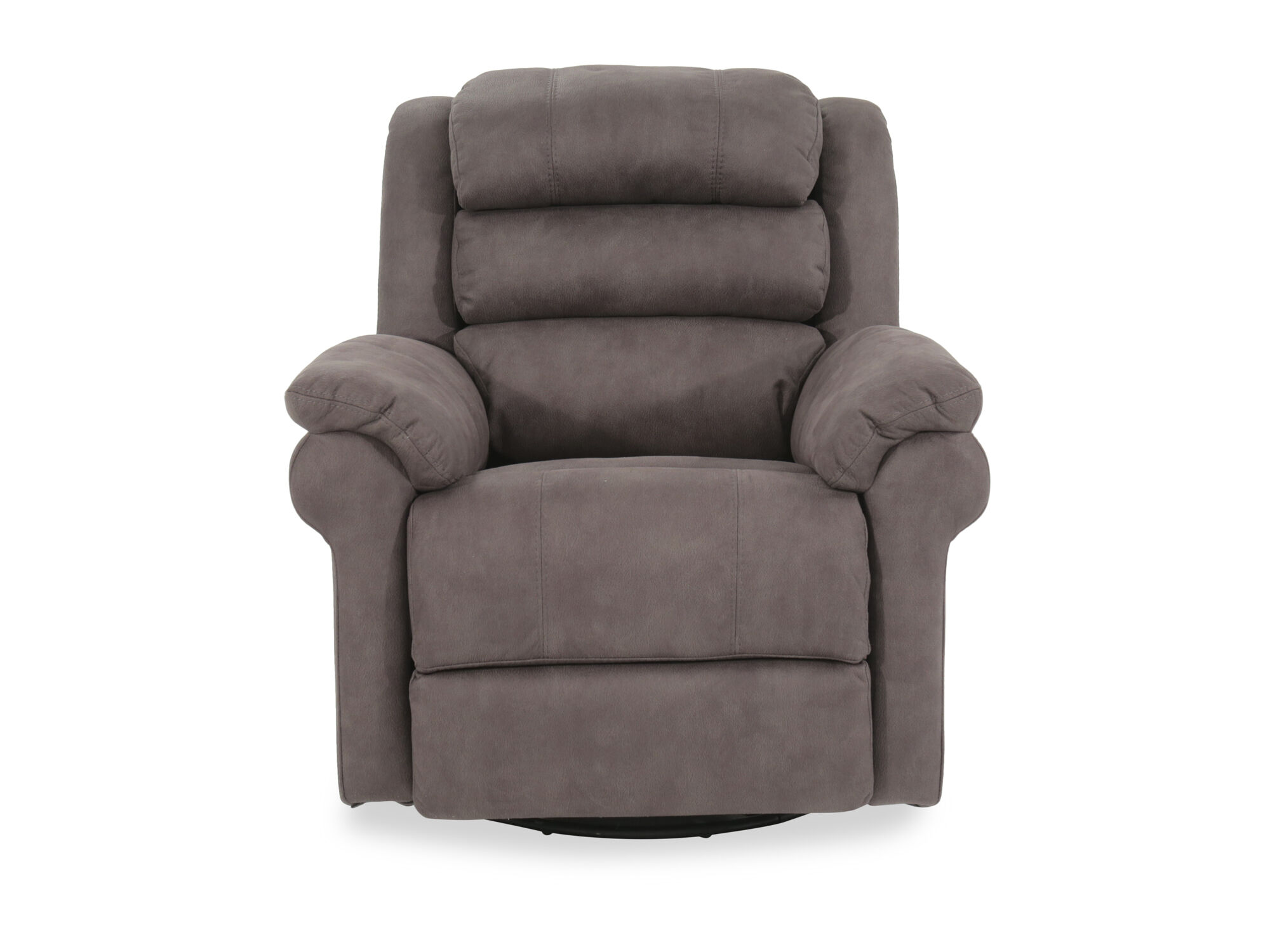 Gray Recliner Chair Casual 38 Quot Power Swivel Glider Recliner In Gray Mathis