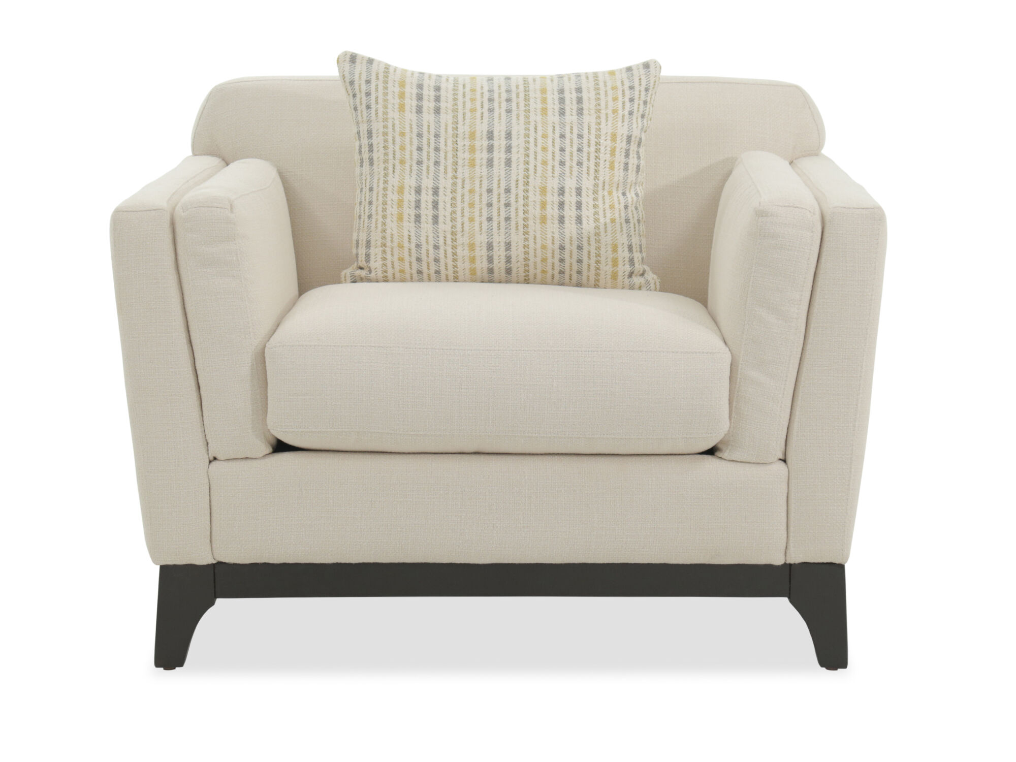 White Arm Chairs Track Arm Casual Chair In White Mathis Brothers Furniture