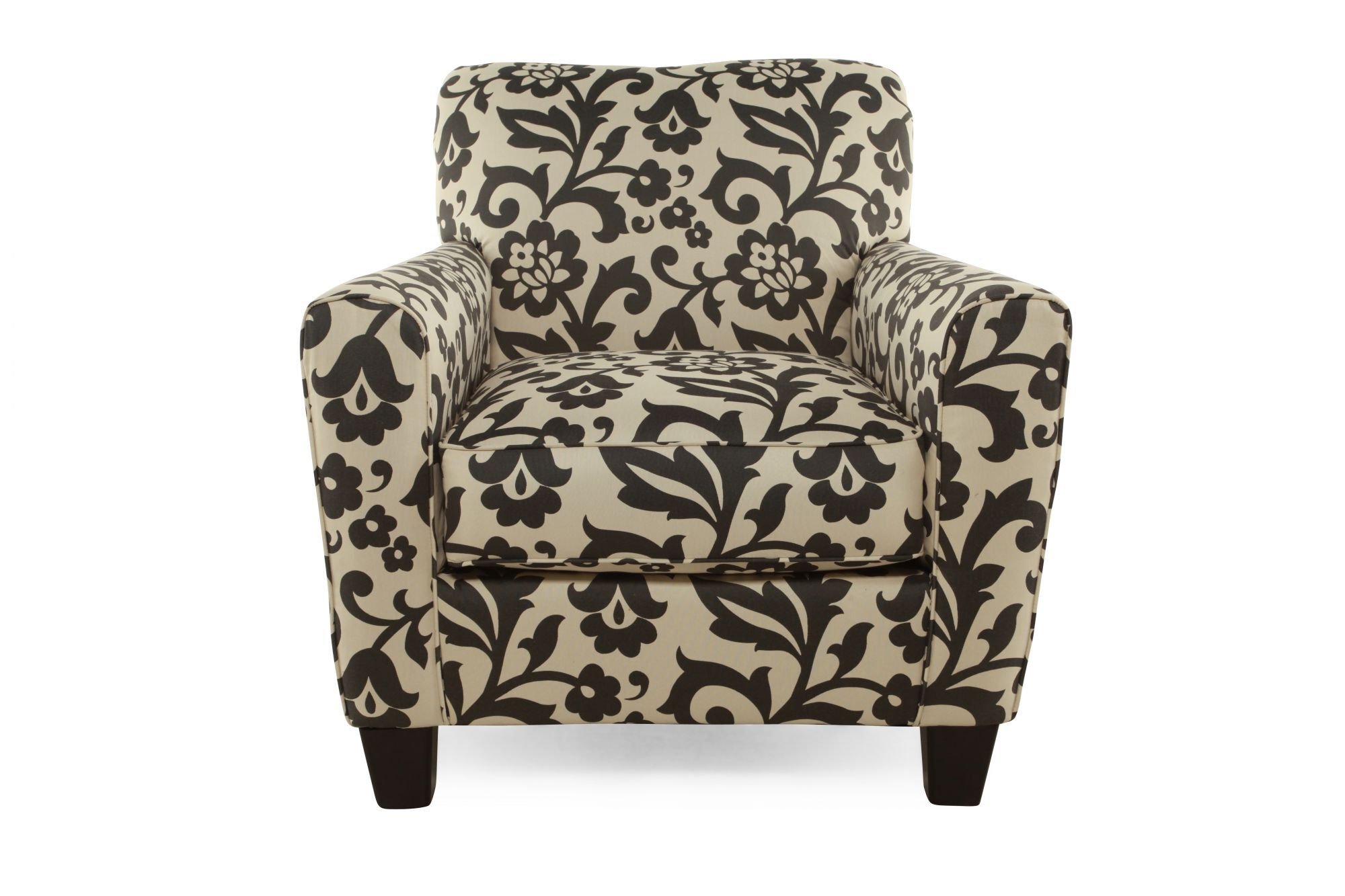 Printed Chair Floral Printed Contemporary 35 Quot Accent Chair In Cream