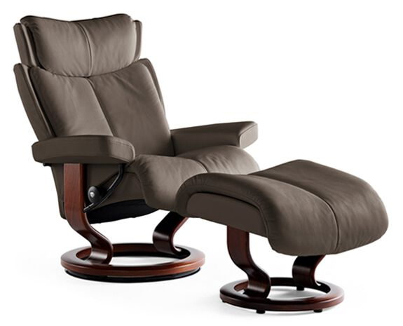 Small Chair With Ottoman Contemporary Small Chair And Ottoman In Chocolate Mathis