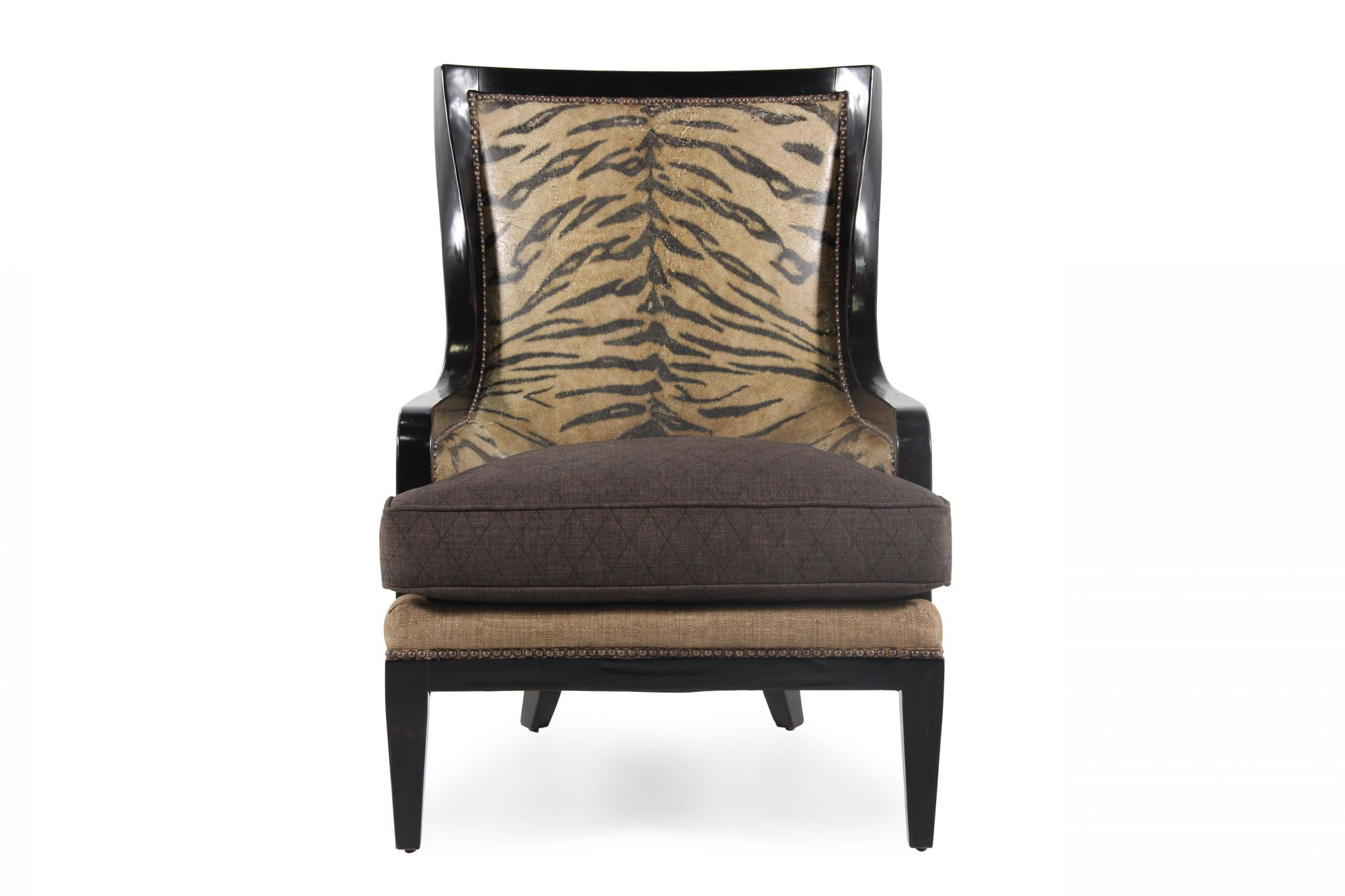 Printed Chair Animal Printed Contemporary 34 Quot Accent Chair Mathis