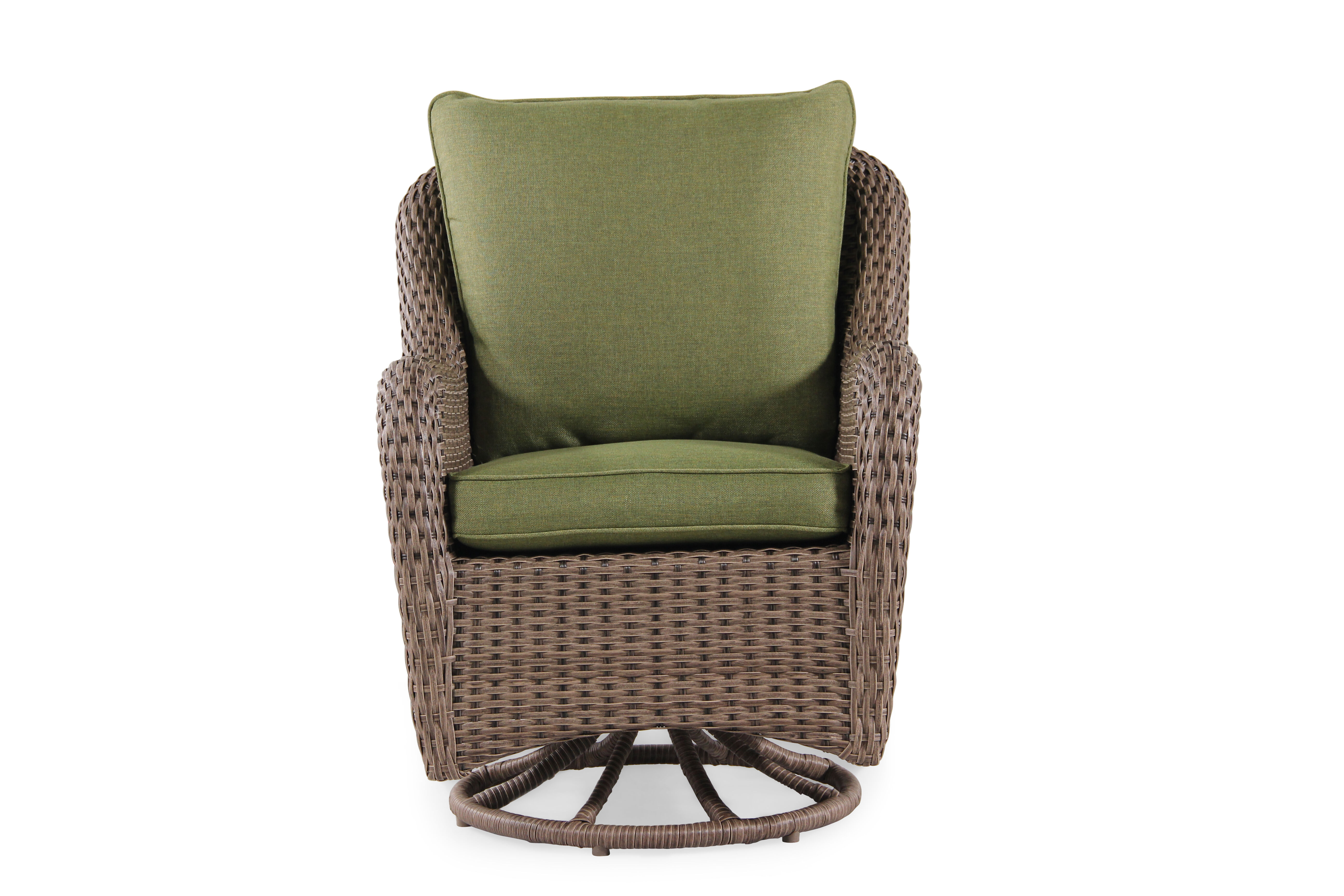 Swivel Dining Chairs Contemporary Woven Swivel Dining Chair In Olive Mathis