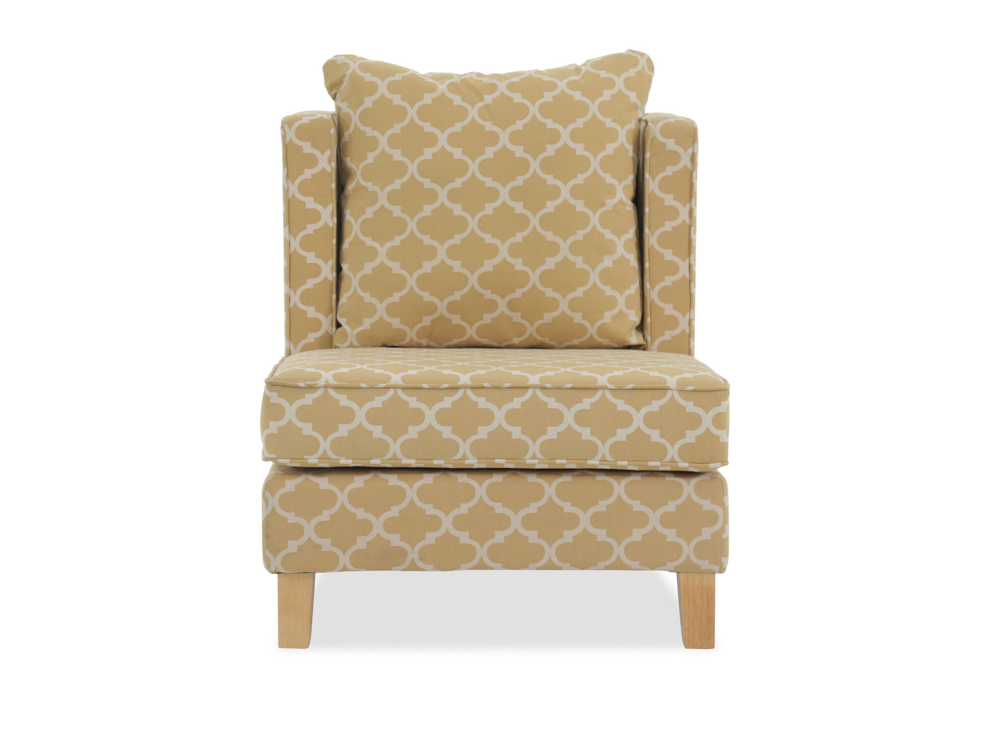 Mustard Accent Chair Trellis Patterned Casual 31 Quot Accent Chair In Mustard