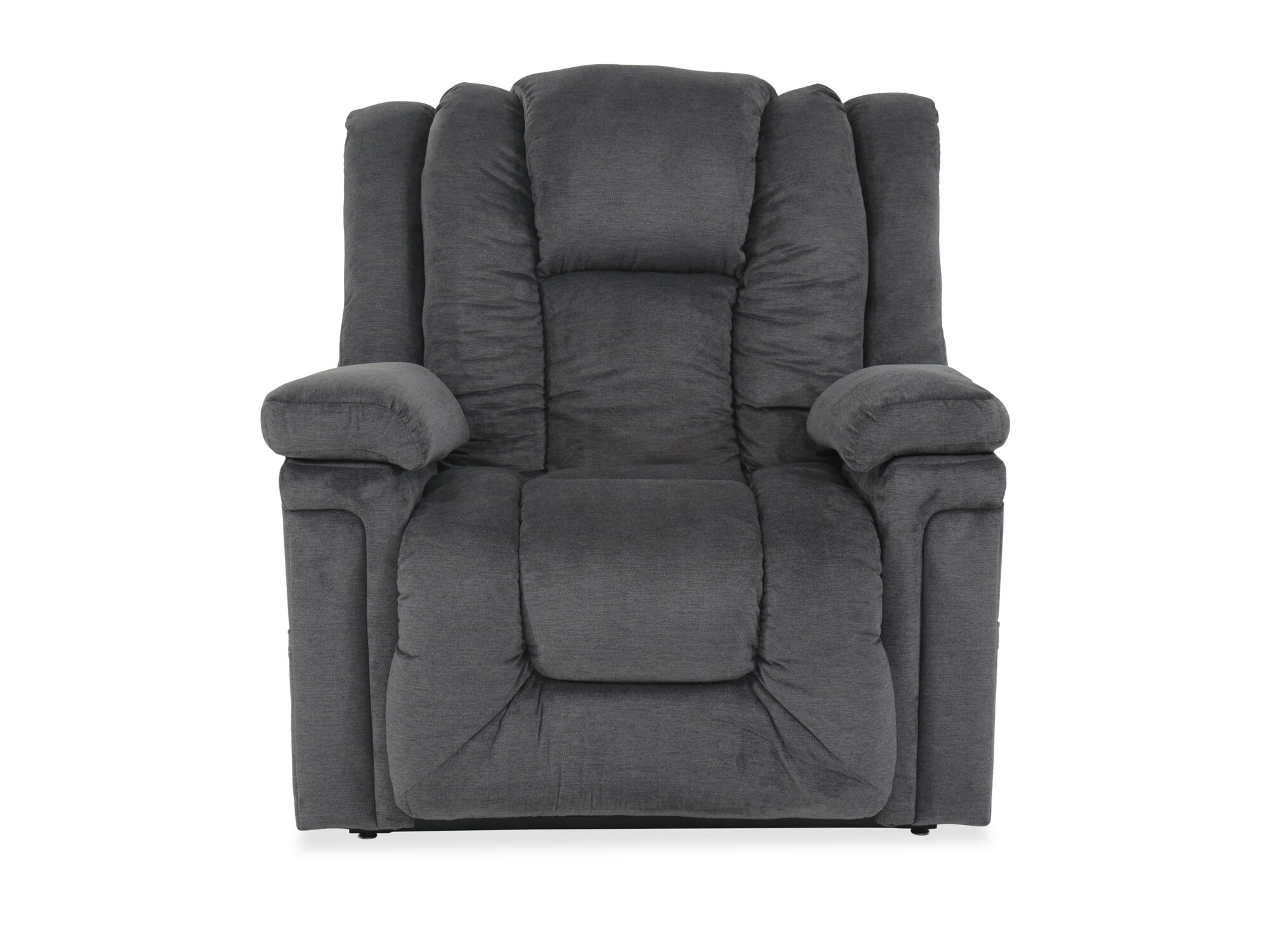 Gray Recliner Chair 49 Quot Leather Power Lift Recliner In Gray Mathis Brothers