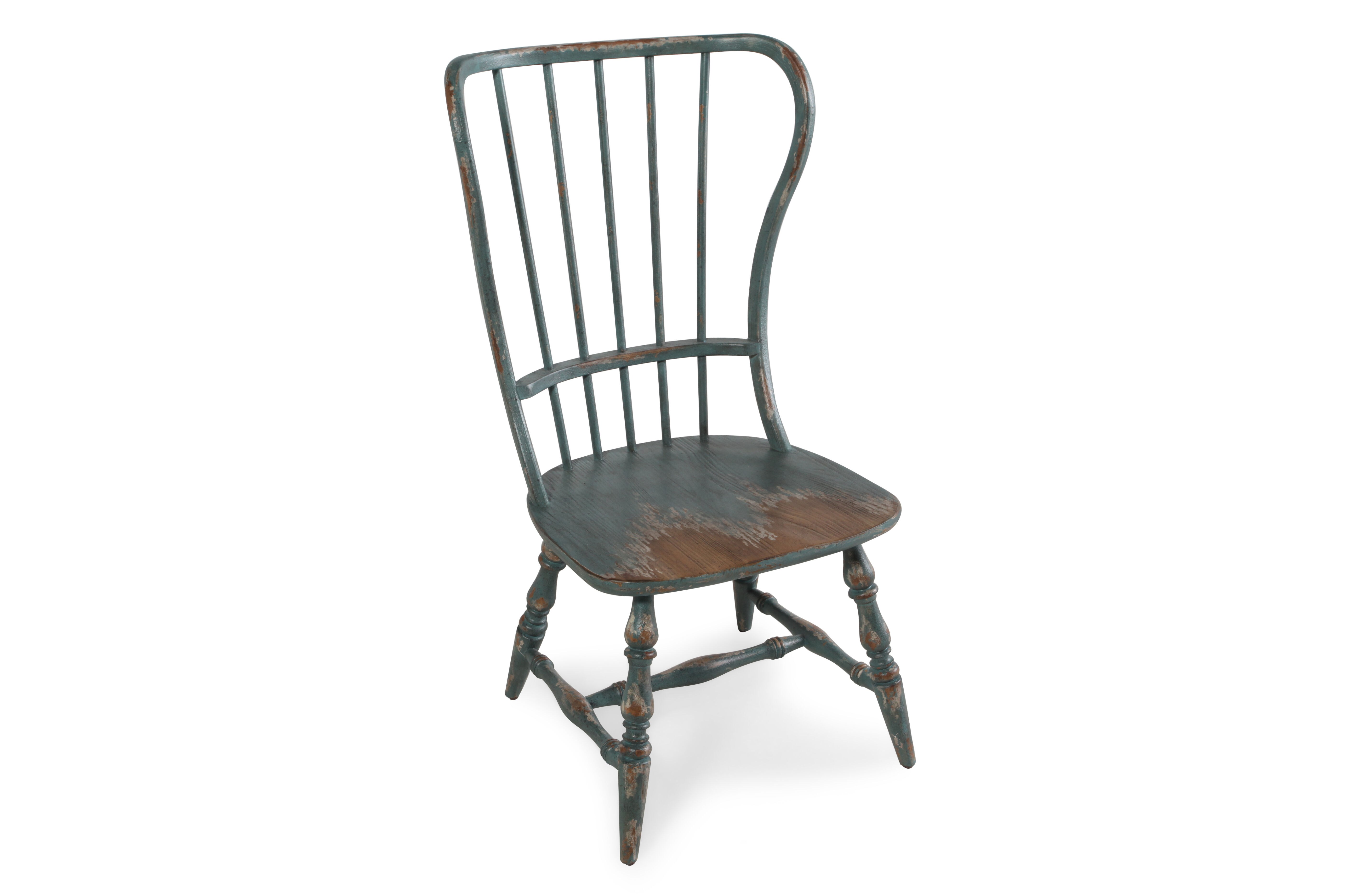 Spindle Dining Chairs Spindle Back 43 39 39 Side Chair In Antique Blue Mathis