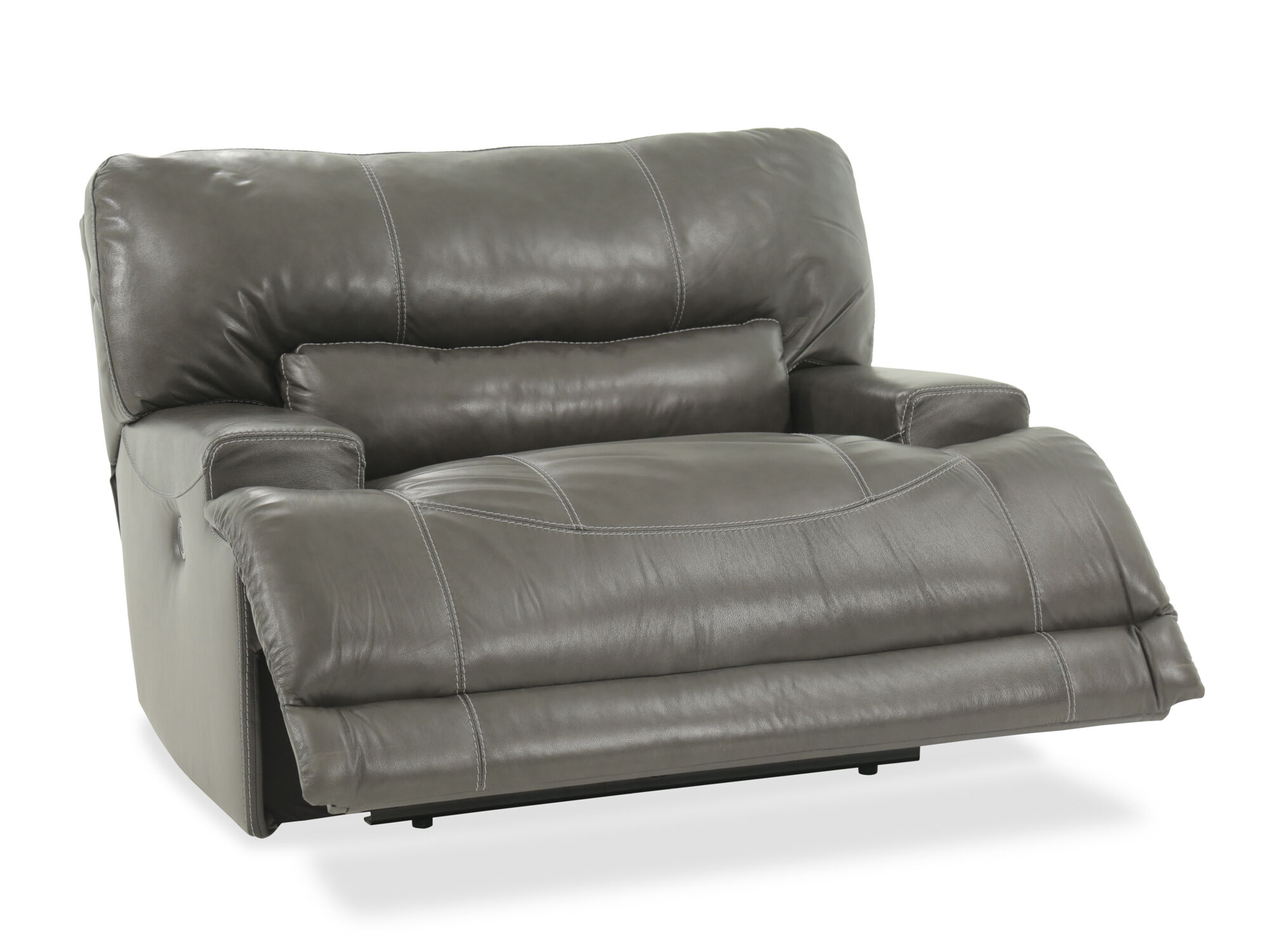 Grey Oversized Chair Oversized Power Recliner In Gray Mathis Brothers Furniture