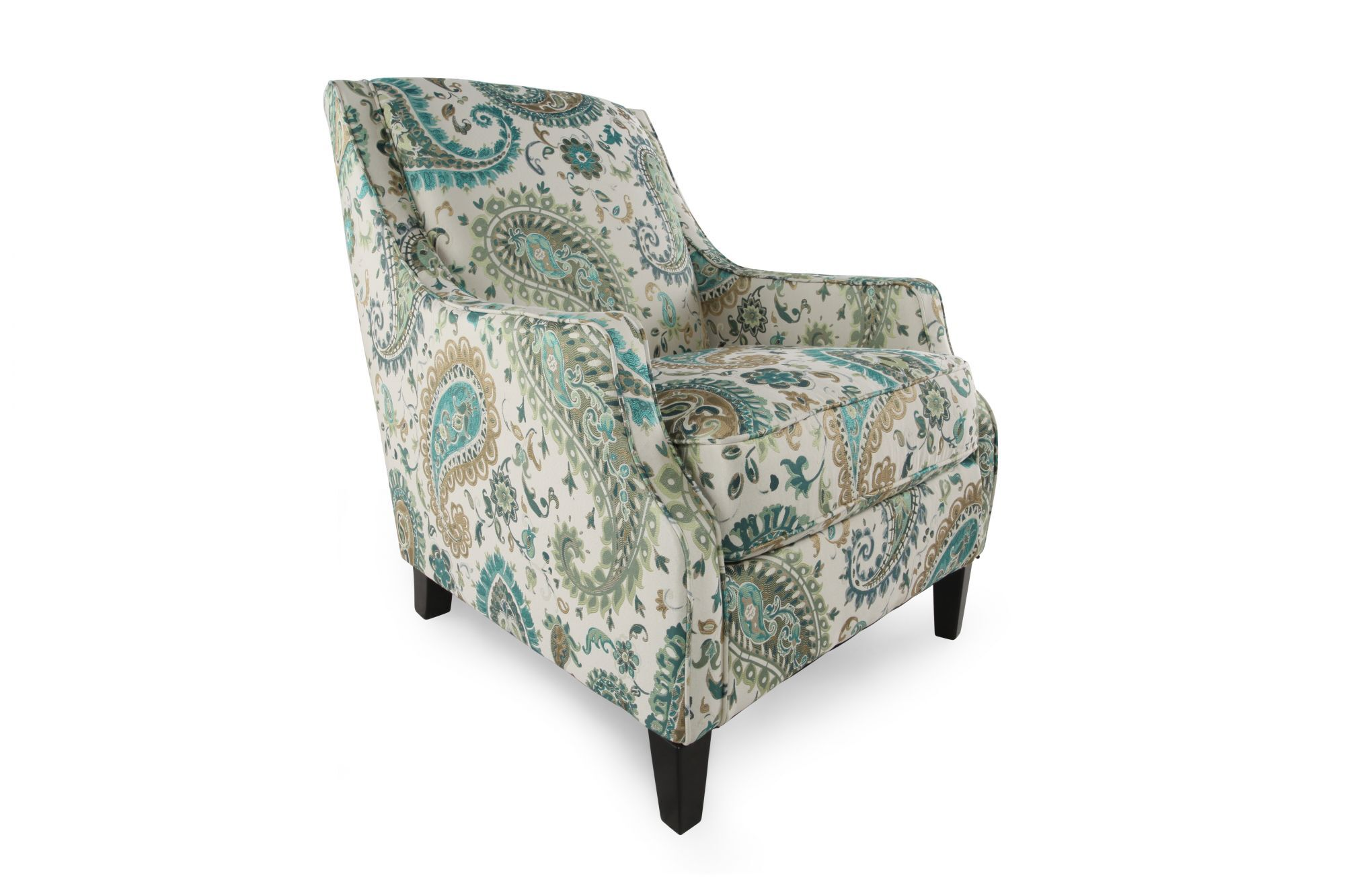 Patterned Chairs Paisley Patterned Casual Accent Chair Mathis Brothers