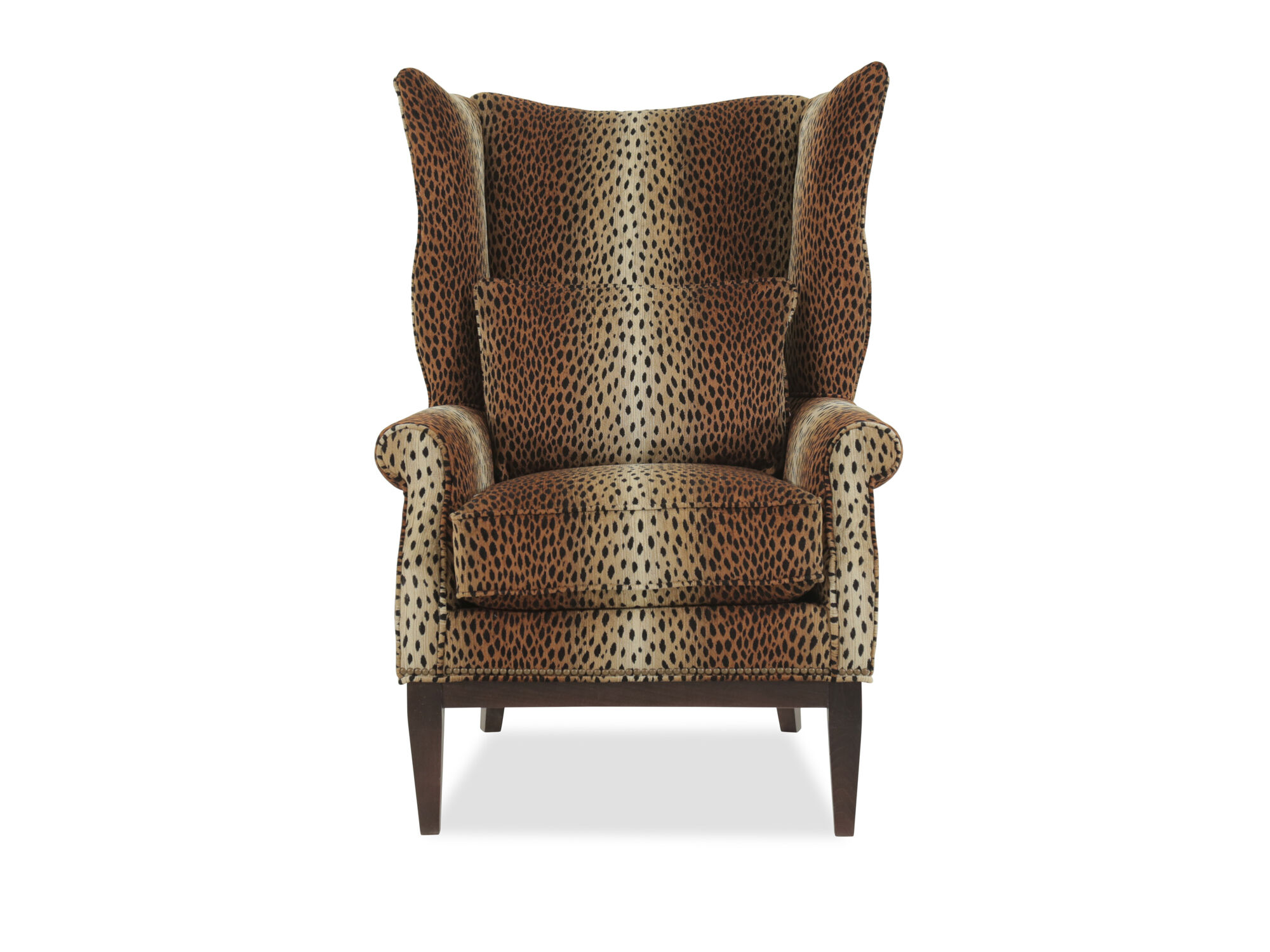 Printed Chair Leopard Printed Traditional 32 Quot Wing Chair Mathis
