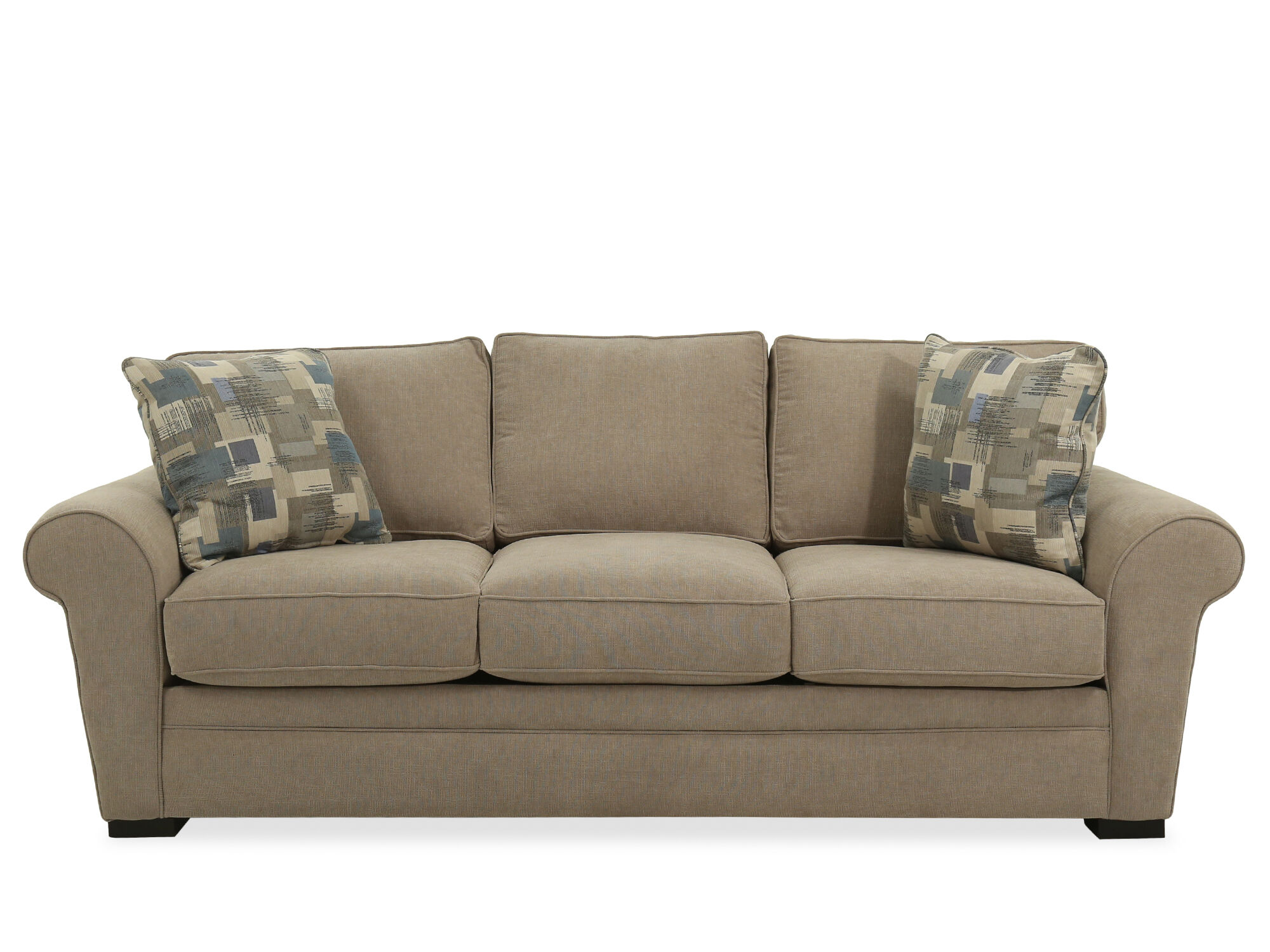 Lounge Couch Casual Queen Sleeper Sofa In Light Brown | Mathis Brothers ...