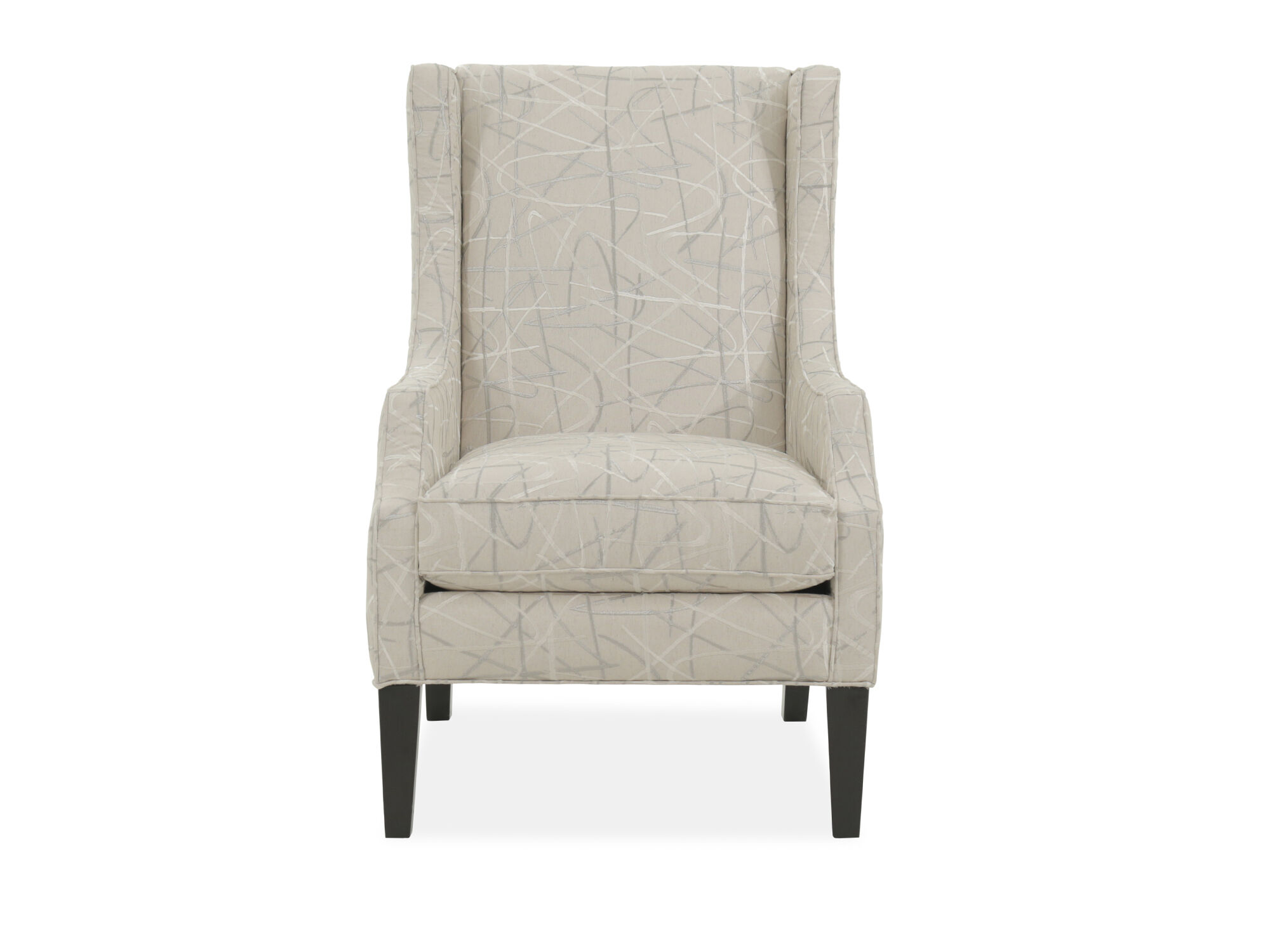 Patterned Chairs Geometric Patterned Casual 29 Quot Wing Chair In Beige