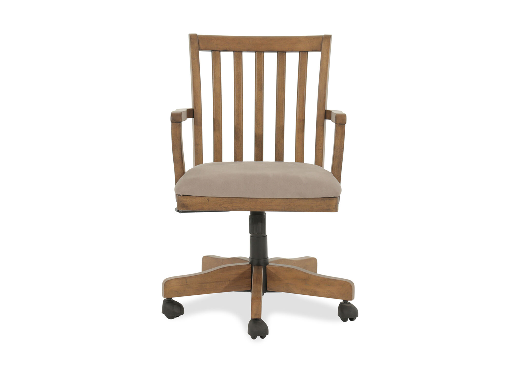 Microfiber Office Chair Microfiber Slat Back Swivel Desk Chair In Brown Mathis