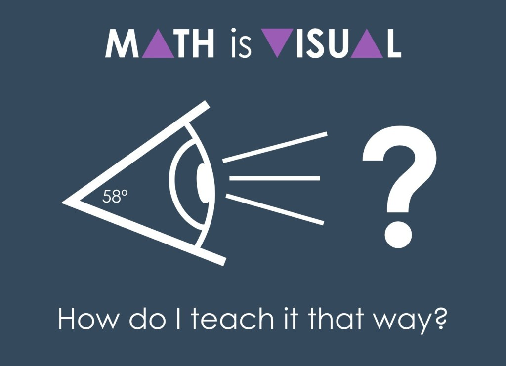 Math Is Visual Header - How do I teach it that way?