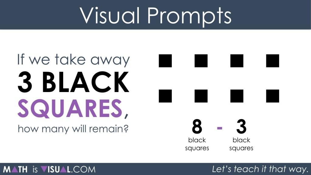 Subtracting Positive and Negative Integers 1a - 8 black minus 3 black