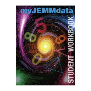 my JEMM data Student Workbook on square background