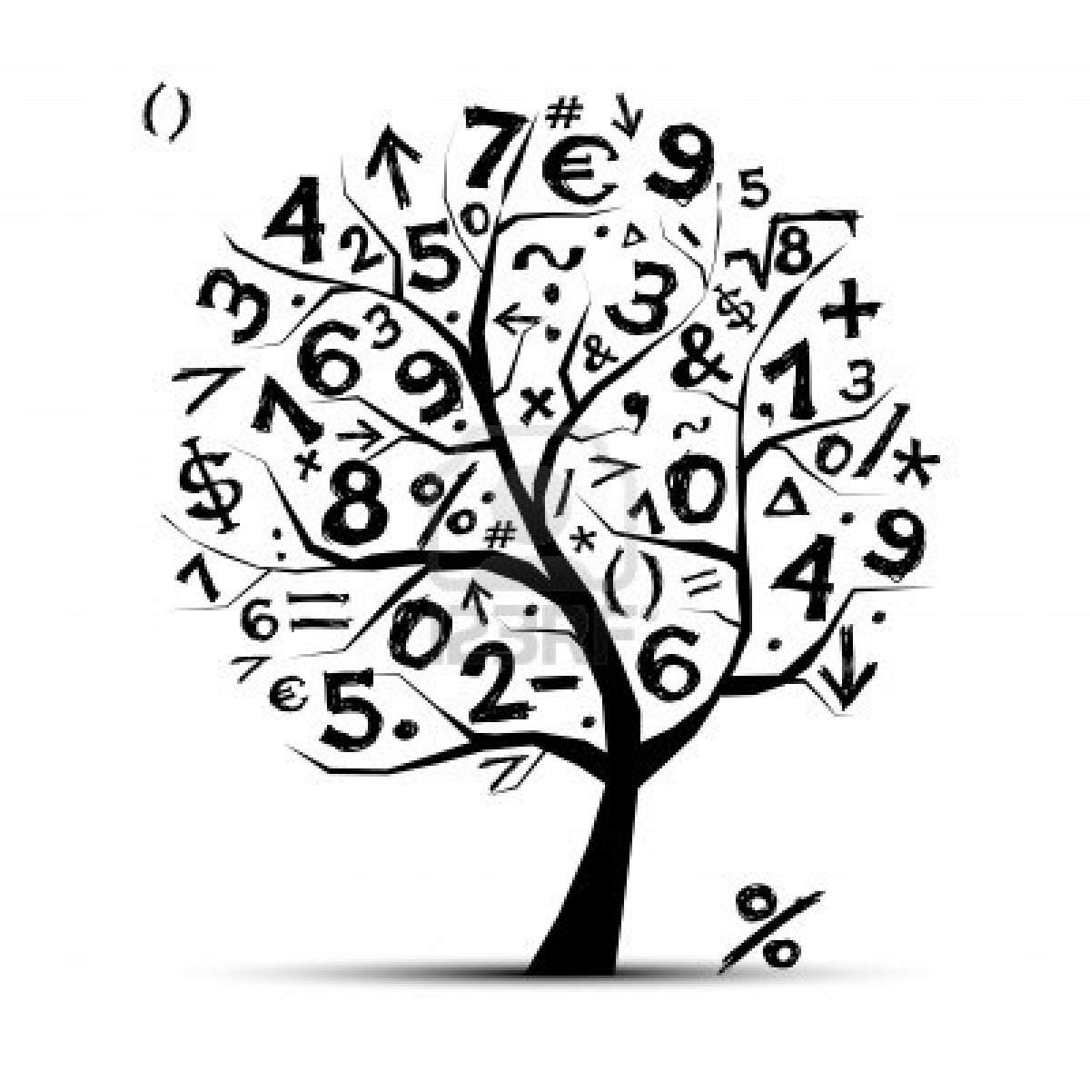 11264060-art-tree-with-math-symbols-for-your-design