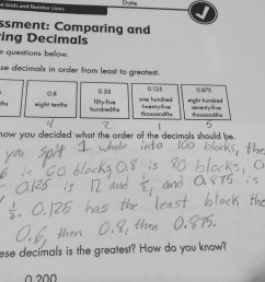 Comparing and Ordering Decimals   Math Minds [ 2448 x 3264 Pixel ]