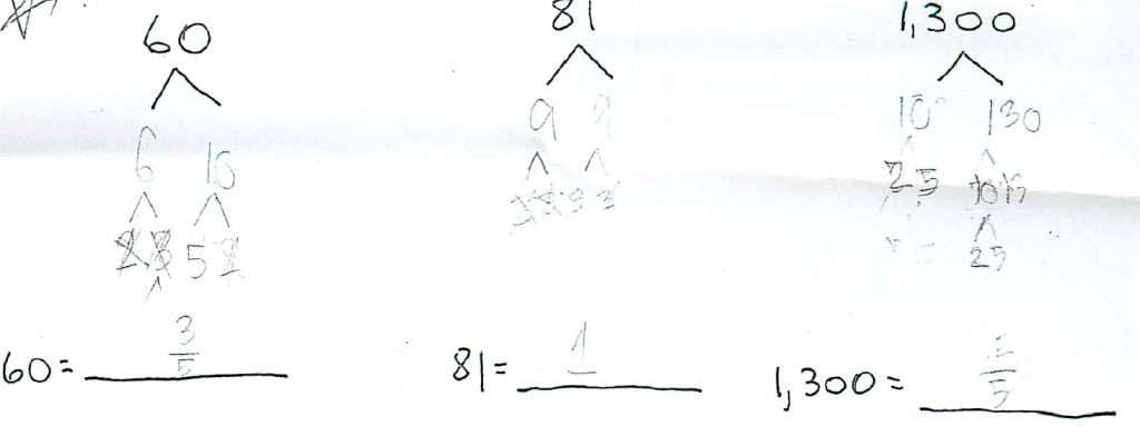 Fractions in a Factoring Tree « Math Mistakes