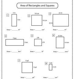 Squares and Rectangles Worksheets   Math Monks [ 3508 x 2480 Pixel ]