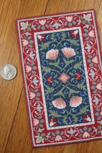 Miniature Needlework: William Morris carpet