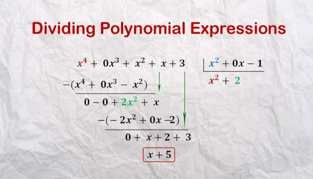 Dividing Polynomial Expressions