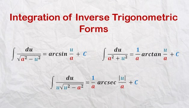 Integration of Inverse Trigonometric Forms