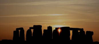 """Stonehenge at sunset"""