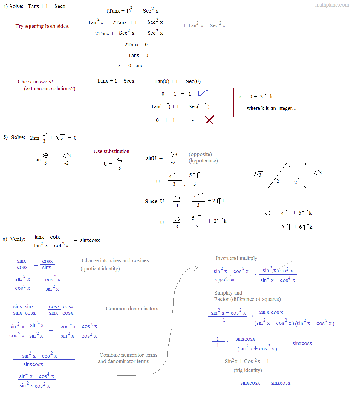Worksheet Verifying Trigonometric Identities Worksheet
