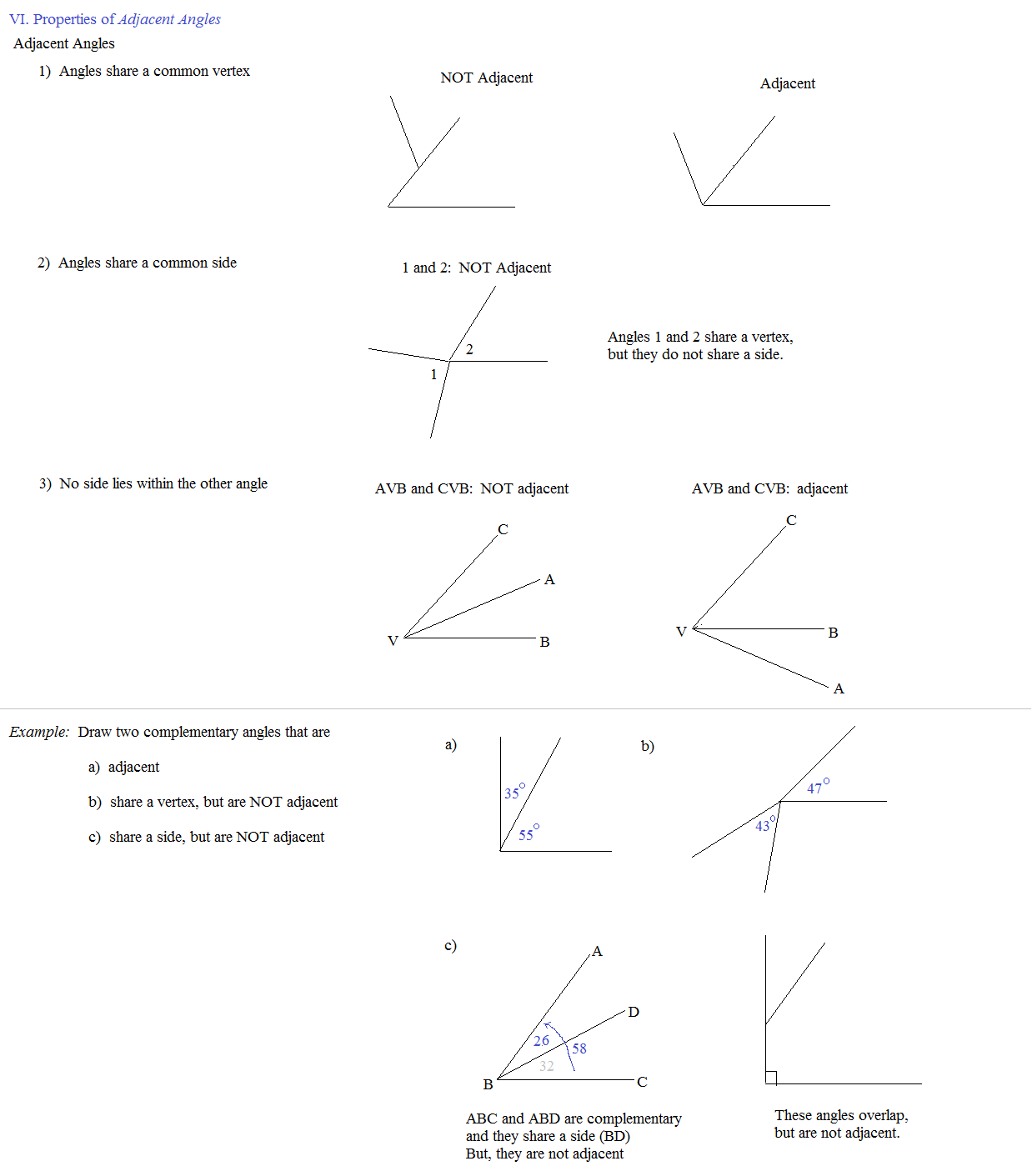 Naming Angles Worksheet