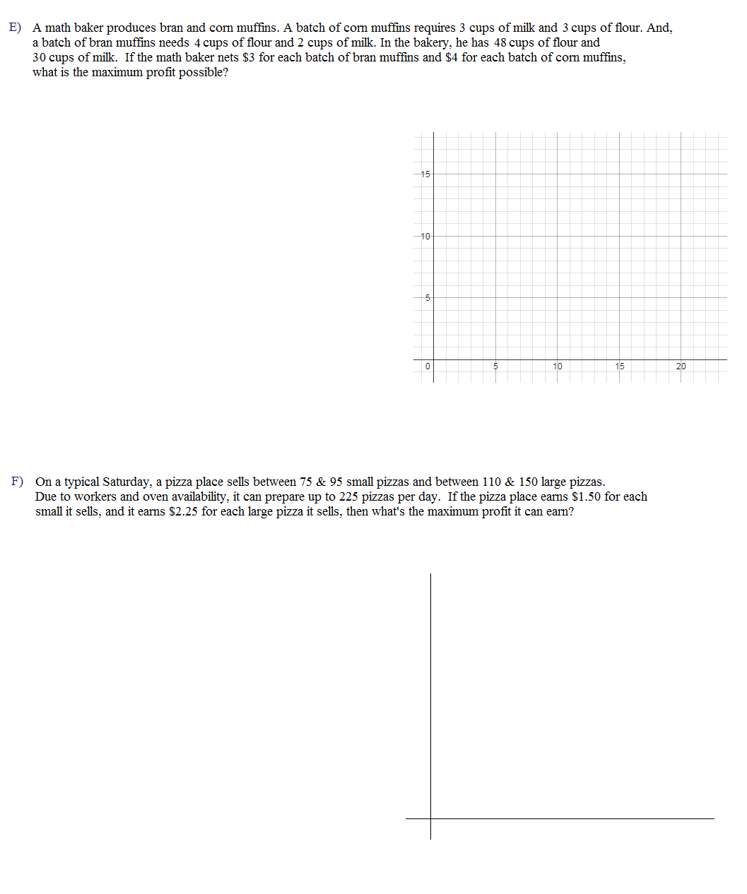 32 Linear Programming Worksheet Algebra 2