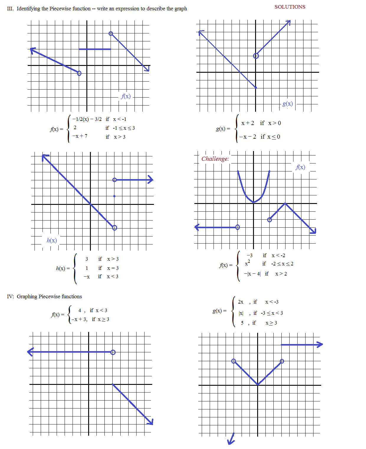 26 Graphing Piecewise Functions Worksheet