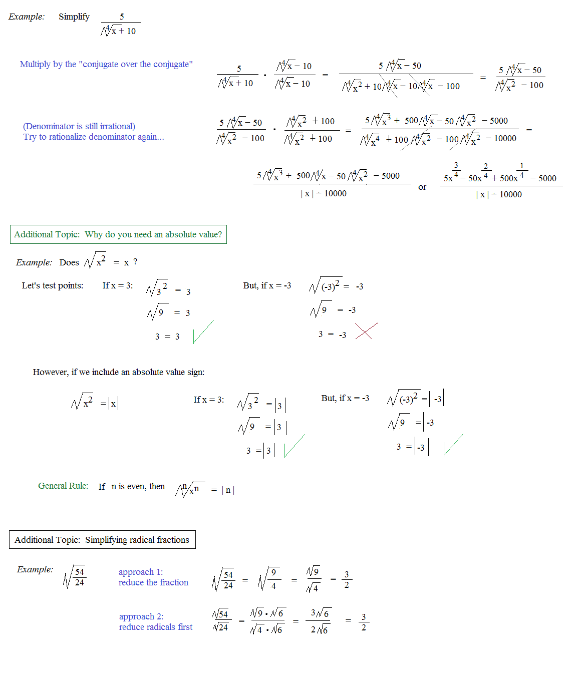 Rationalizing Denominators Worksheet Kuta