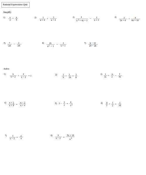 small resolution of Solving Algebraic Expressions Worksheets   Printable Worksheets and  Activities for Teachers
