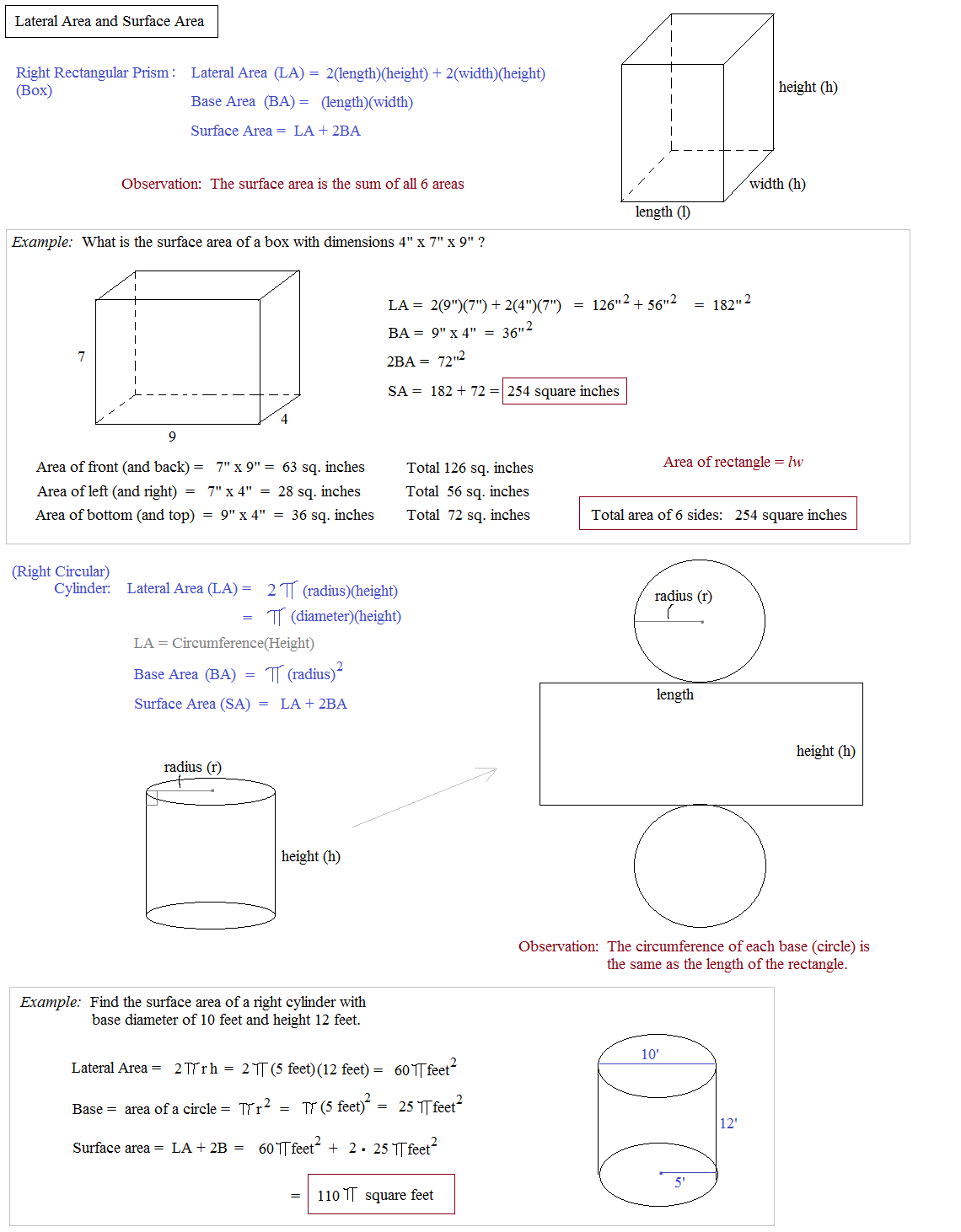 Worksheet Surface Area Of A Cylinder Worksheet Grass