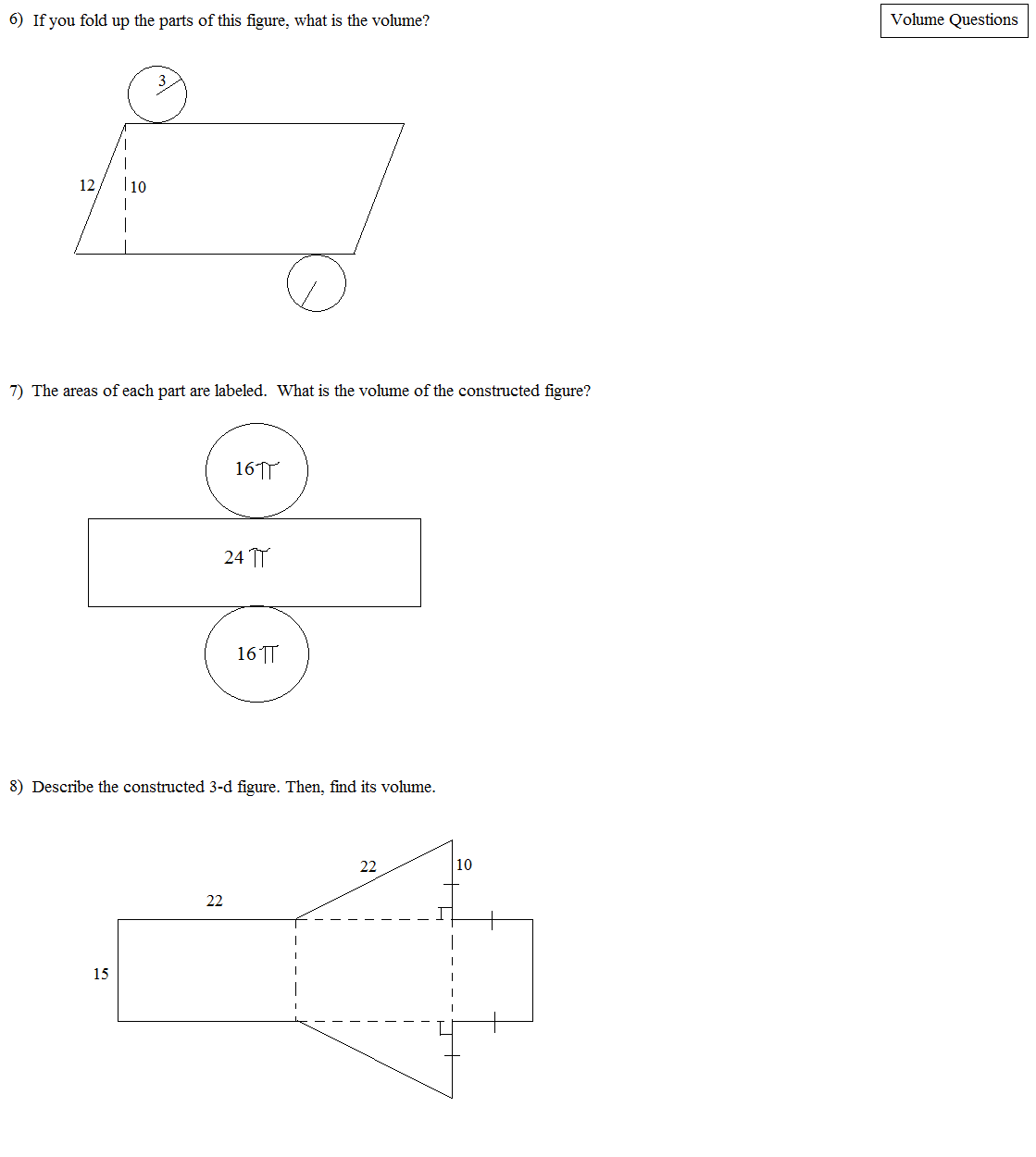 Irregular Rectangular Prism Worksheet