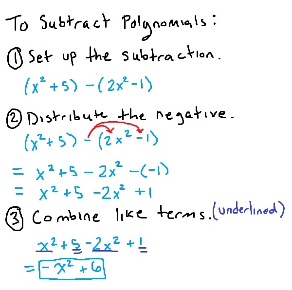 Adding And Subtracting Polynomials  Mathbootcamps