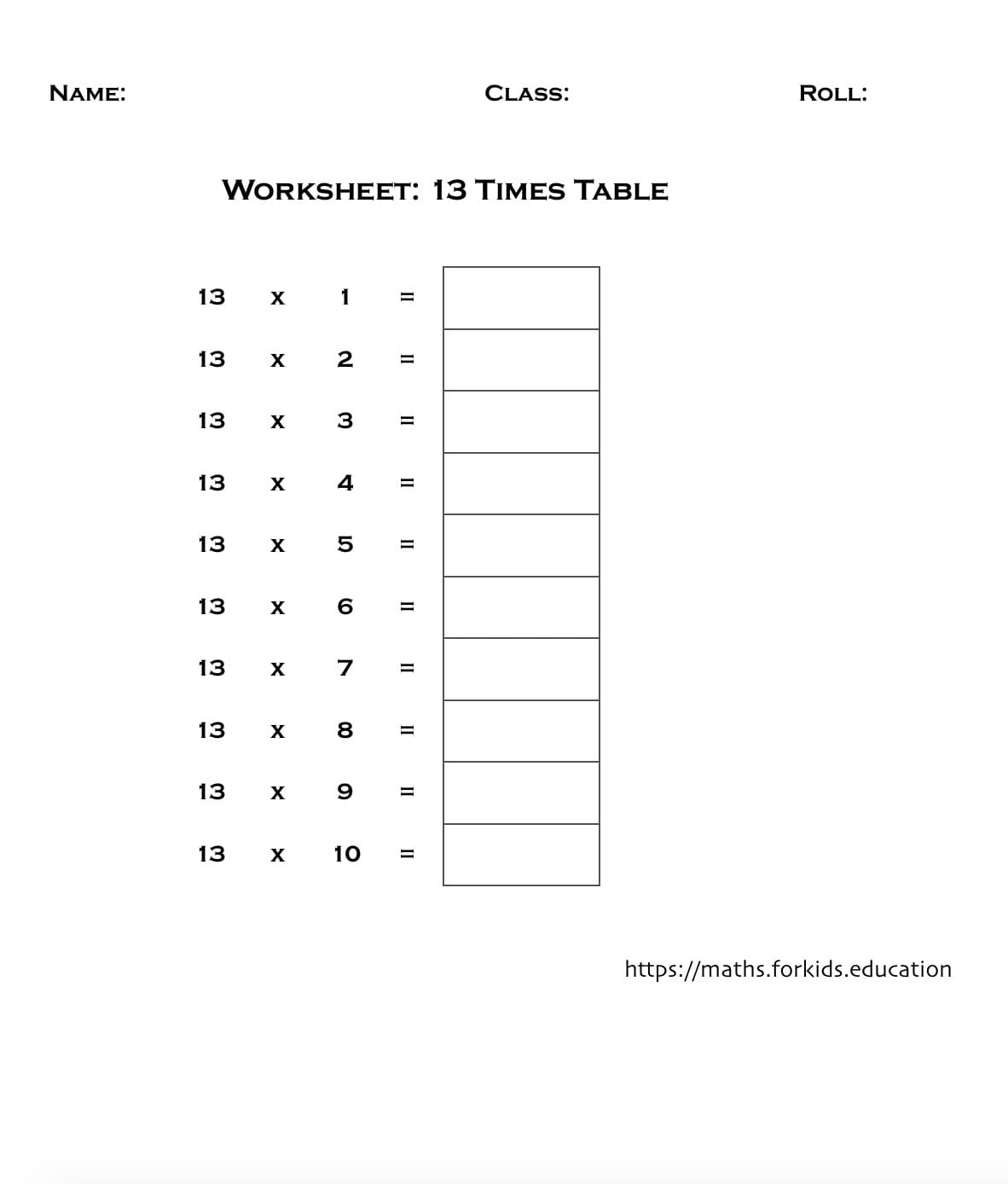 A Fun Way To Remember Table Of 13